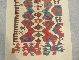 18th Century Anatolian Kilim One Part Size.283x67