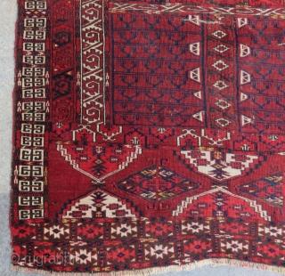 Antique Türkmen Ensi Rug Size.152x125cm