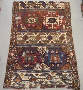 Antique Caucasian Karabagh Kasim Ushak  Fragment Rug Size.182x125cm