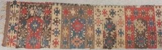 Antique Anatolian Saf Kilim One Part Size.320x62cm