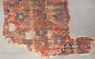 18th Century West Anatolian Star Uşhak Fragment Size.375x140cm