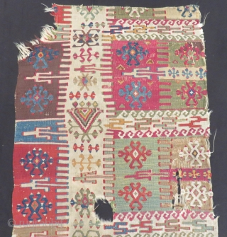 Antique East Anatolian Kilim fragment Size.143x69cm