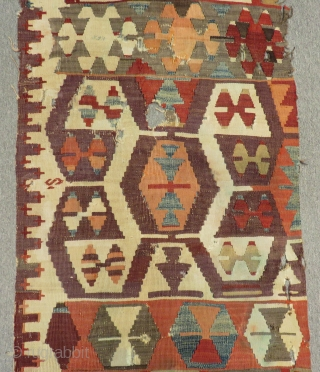 Mid 19th Century Anatolian Kilim One part Size.325x70cm
