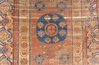 Early 19th Century Khotan Rug Size.300x133cm