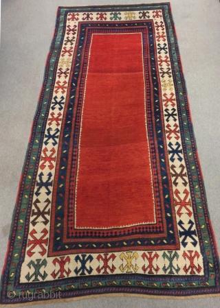 Caucasian Dagıstan Rug Circa 1880-70 Size.245x120 Cm