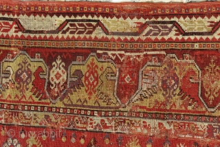 Early 19th Century West Anatolian milas Fragment Rug Size.178x113cm