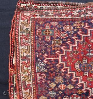 Antique Qashqaii Bag face Size.68x52 Cm