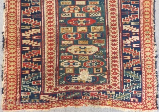 Antique Shirvan Kuba Rug Circa 1870-1880.Size.145x90 Cm