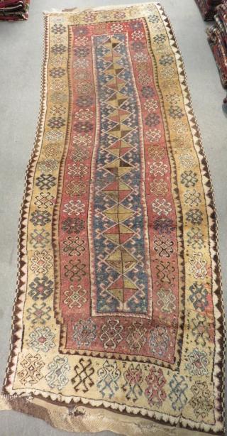 Early 19th Century East Anatolian Erzurum Carpet Size.355x125cm