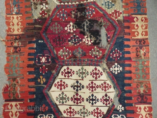 Early 19th C East Anatolian Malatya Kilim Size.160x109cm