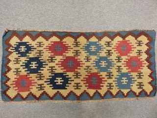 Antique Shahsevan Panel Kilim Size.105x48cm.52x52cm