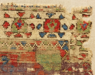 Early 18th Century Kapadokya Frangment Rug Size.108x77cm