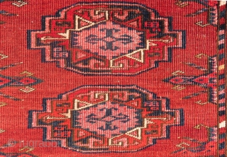 Antique Türkmen Sarık Cuval There is also some silk incide the flovers And Bordur Size.163x97cm