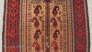 Antique Baluch Prayer Rug Size.140x83cm
