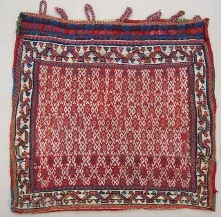 SW Persian Saddle Bag Soumack and mixed technique with back  circa 1900   48 cm *44 cm   good colours