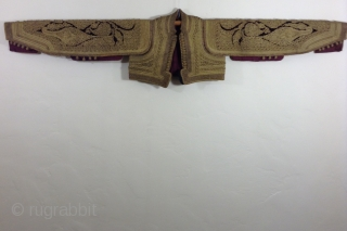 This is a vest that was made in one of the countries that was part of the Ottomon Empire before the First World War. Greece, Albania, Macedonia, Turkey, among others were all  ...