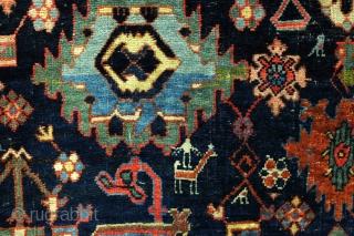 Bidjar Harshang design.  19th century, early 20th century.   420 x 120 Cm.