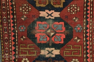 Armenian rug, antique,  with text. 