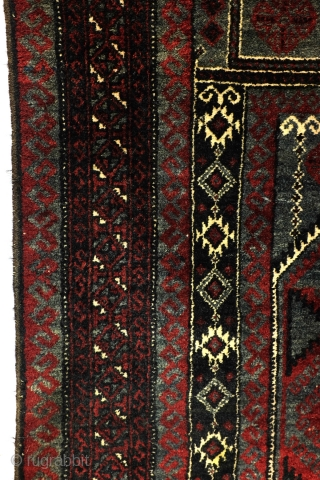 Belouch, 60-ies or 70-ies, 160 x 90 Cm. wool on wool, warp white wool.  Clean, good condition.