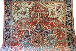 Lilian, 100 years, low pile, 270 x 370 Cm. 12.3 feet x 9 feet.