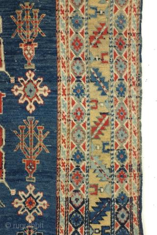 Antique Armenian Karaghasli rug, 1890 - 1910.  Size: 198 x 98 Cm.
