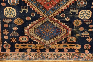 Kazak, Shirvan area, natural colors, large - 300 x 226 Cm. 10 ft. x 7.5 ft. 