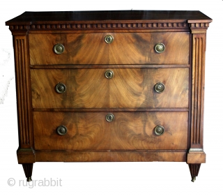 Commode, chest of drawers, Dutch Louis XVI pweriod, late 18th century.  In good condition.  High 85 Cm's - 2.8 feet, wide 100 Cms. 3.3 feet