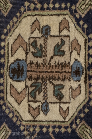 Ardebil rug, Konaghend design. 225 x 125 Cm    Ardebil is close to the Caucasion border and very often we see Cucasion designs there.  The difference shows if you feel them, they are  ...