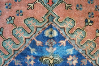 Ushak, west Anatolia, 357 x 277 Cm.  12 ft. x 9.2 ft. Wool on wool.  Old, Unrestored, as is, 19th century rug simular to a 17th century rug, see  last photo. It  ...