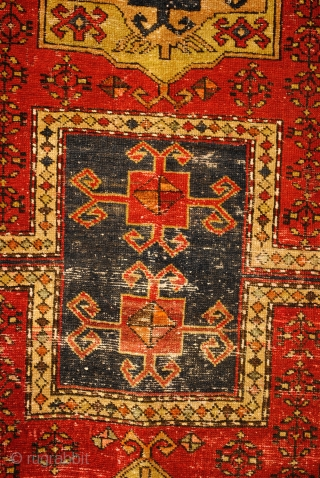 Old/antique Prayer rug. Ca. 1920-1930 Outstanding and remarkable design of a double prayer rug.  210 x 105 Cm. 7 ft. x 3.4 ft.  Fachralo, Caucasus, Armenian.