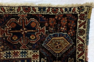 Afshar nomads, 20th. century  rug.  184 160 Cm.  6.1 ft. x 5.3 ft.  Worn, shabby chique, AS IS, 120 years old, no need to repair, great as an object of  ...