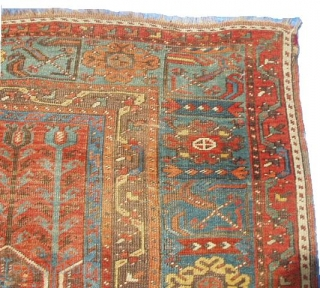 """#5988 Ladik antique Turkish Rug  This lovely Ladik measures 3'10"""" X 6'11"""". It dates from the 18th century.  It's all there… The tulips at the top, the spandrels filled with a ewer  ..."""