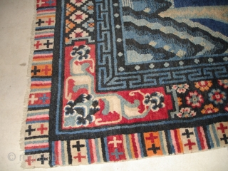 #6699 antique Tibetan Rug