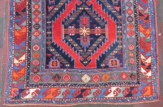 Caucassian Kasak carpet wonderful colors and excellent condition full pile all original size 3,95x1,96 cm Circa 1890-1900