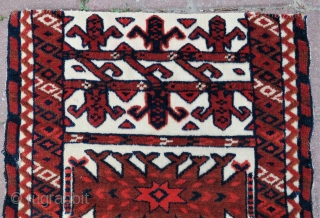 Turkoman tent bant Fragment wonderful colors size (52x16 inches) 1,34x41 cm Circa 1900
