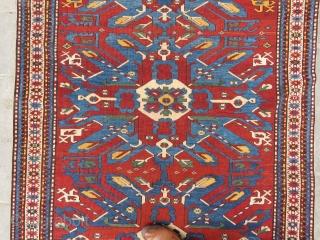 Caucassian Eagle Kasak 4 locket wonderful colors and very nice condition Circa 1890-1900
