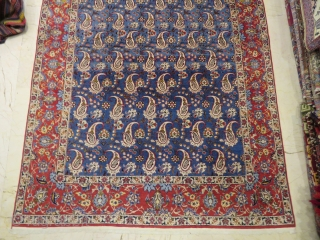 Esfahan boteh design wonderful colors and excellent condition all original Circa 1910-1920