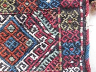 Caucassian salt bag werneh technic wonderful colors and excellent condition all original size 37x34 cm Circa 1900-1910
