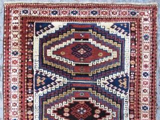 Caucassian Adler kasak aria memnulk gul design wonderful colors and excellent condition all original size 1,93 x 1,34 cm Circa 1900-1910