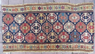 Reverse sumack  Amazing colors and very nice condition  size 91x43 cm Circa 1870- 1880