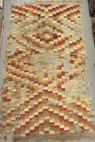 "Early and interesting ""Ancient Mosaic style"" Tulu Central Anatolian Kapatocya. 240cms x 145cms."