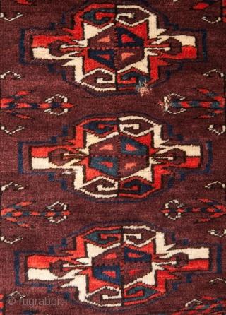 Turkmen Yomud Chuval Fragment 46 x 108 cm / 1'6'' x 3'6''
