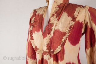 Uzbek Silk Ikat Dress Early 20th c.