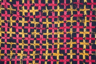 Phulkari with Indigo Background 142 x 229 cm / 4'7'' x 7'6''