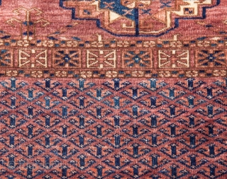 Turkmen Tekke Chuval  ( smoked, velvety , silky texture ) 111 x 72 cm / 43.7 x 28.35 inches