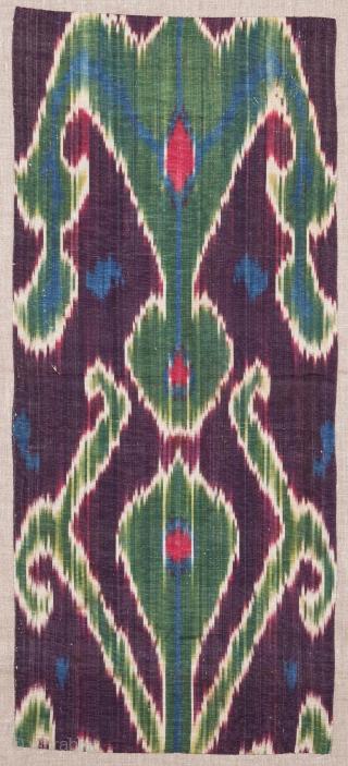 Central Asian Tajik Ikat Fragment 29 x 64 cm /