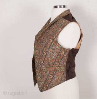 Vest made out of an antique Persian Embroidery