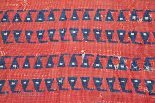 Eastern Anatolian Kilim with an unusual design. 257 x 135 cm / 8'4'' x 4'4''