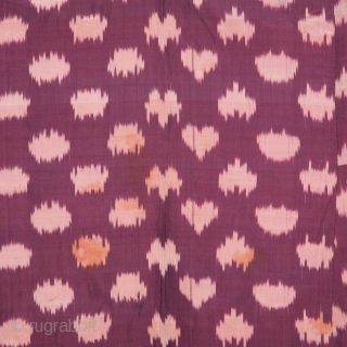 Central asian Tajik Silk Ikat Chapan