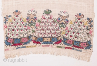 Ottoman Embroidered Towel / Peskir ( reversable embroidery ) 
